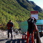 Příprava na výšlap na Bessegen