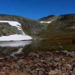 Druhá túra - norská národní, hřeben Bessegen nad jezerem Gjende