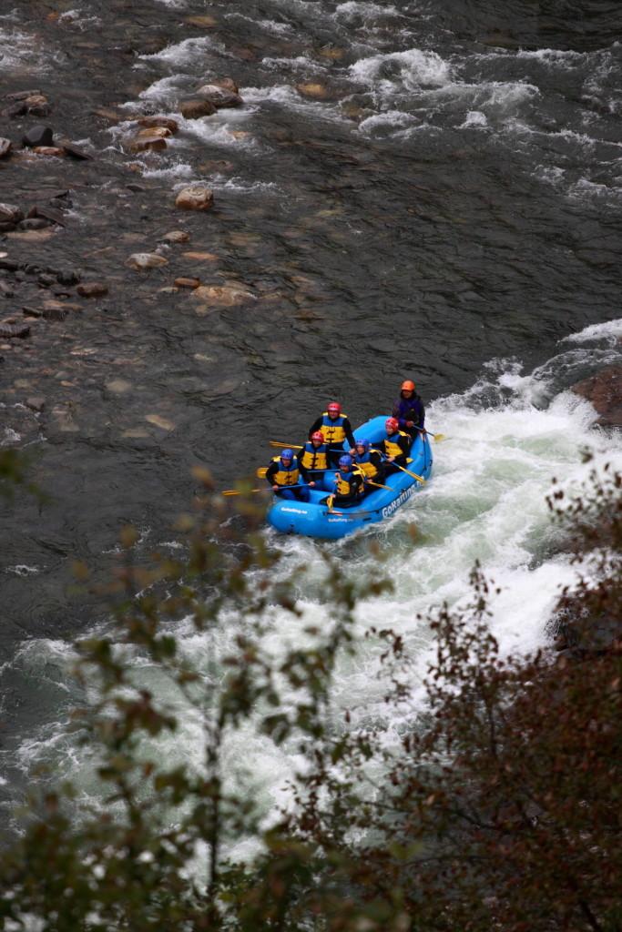 Raftařský tým na řece Sjoa